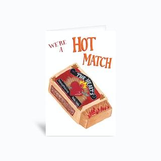 Hot Match Sambulll Greetings Card