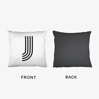 Black Letter J Cushion