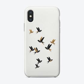 Origami Birds Collage I Phone Case