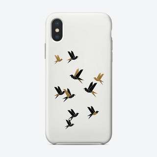 Origami Birds Collage I Phone Case
