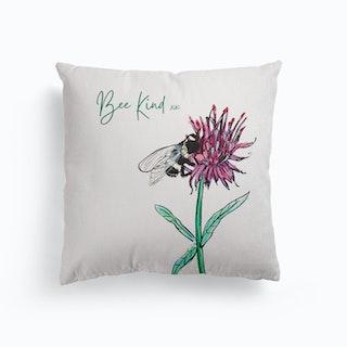 Bee Kind Canvas Cushion