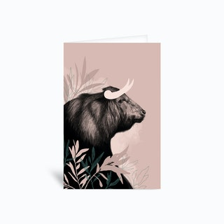 Bull Greetings Card