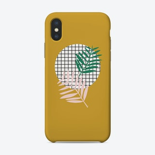 Palm Leaves In Mustard Phone Case