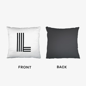 Black Letter L Cushion