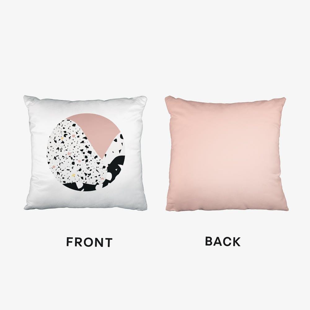 Terrazzo Pink Circle Cushion