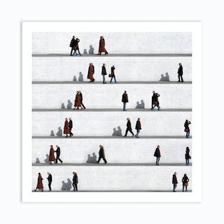 Wall People Detail 13 Art Print