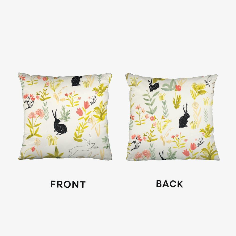 Black Rabbits Cushion