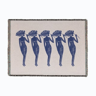 Blue Ladies Woven Throw