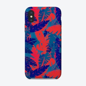 Leaves Blue Red Phone Case