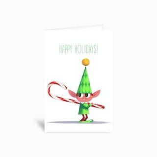 Elf Greetings Card