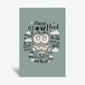 Wise Old Bird  Greetings Card