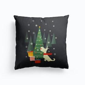 Festive Singing Dog Cushion