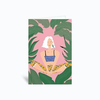 Yoga Ii  Greetings Card