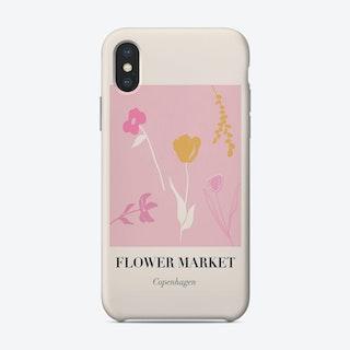 Flower Market Copenhagen Phone Case