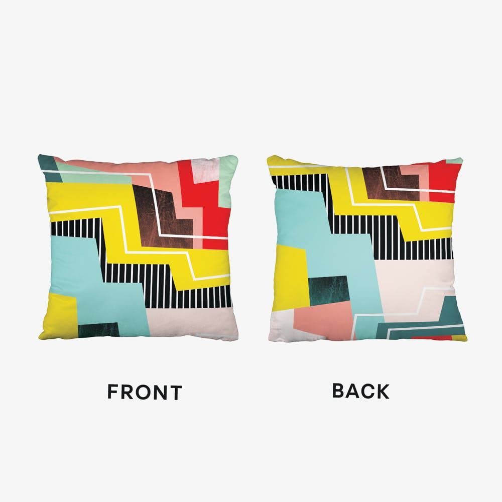 Colorblock Cushion