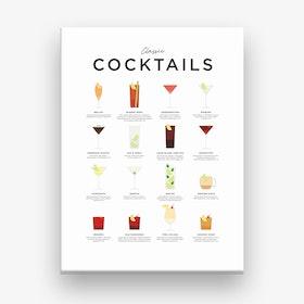 Classic Cocktails Canvas Print