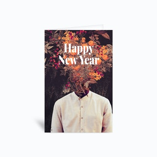 Bloom Happy new year Greetings Card