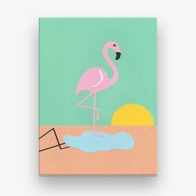 Flamingo Herbert Canvas Print