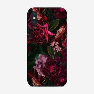 Vintage Midnight Summer Botanical Roses Garden Phone Case