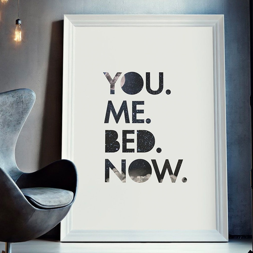 You Me Bed Wall Art Print Free Shipping Fy
