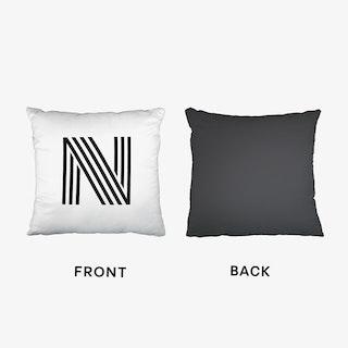 Black Letter N Cushion