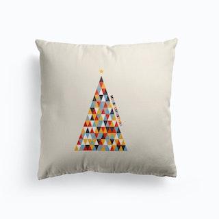 Modern Christmas Tree Cushion