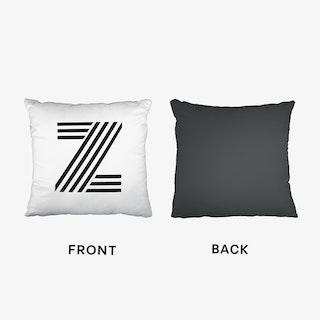 Black Letter Z Cushion