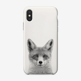 Fox B&W iPhone Case
