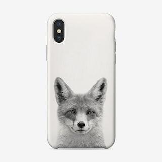 Fox B&W iPhone Case
