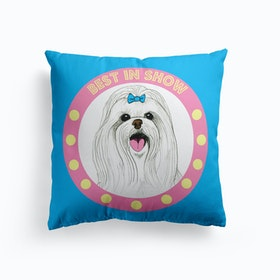 Best In Show Maltese Cushion
