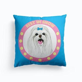 Best In Show Maltese Cushion