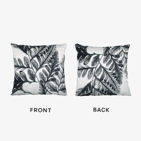 Botanical Fern Print Two Cushion