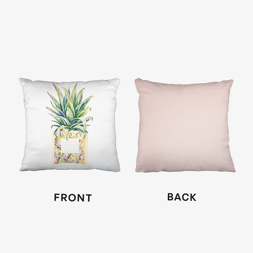 Chanel Inspired Pineapple Cushion