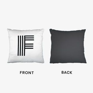 Black Letter F Cushion