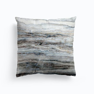 Whtie And Blue Marble Cushion