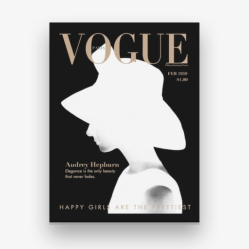 Audrey Vogue Canvas Print
