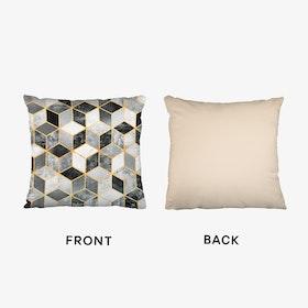 Black And White Cubes Cushion