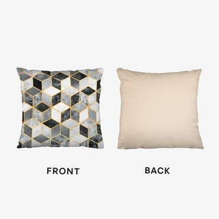 Black And White Cubes Cushion