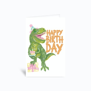 Party Dino Sambulll Greetings Card