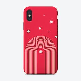 Rainbow Pink Arches Stars Phone Case