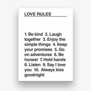 Love Rules Canvas Print