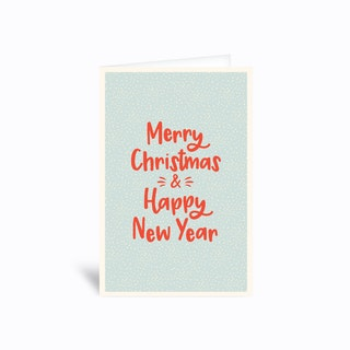Cute Merry Christmas And Happy New Year Greetings Card