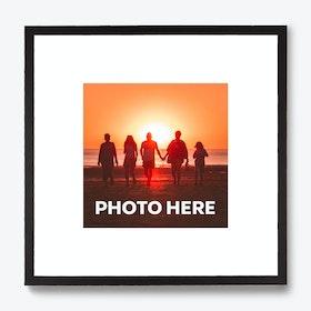 Framed Caption Single Photo Print