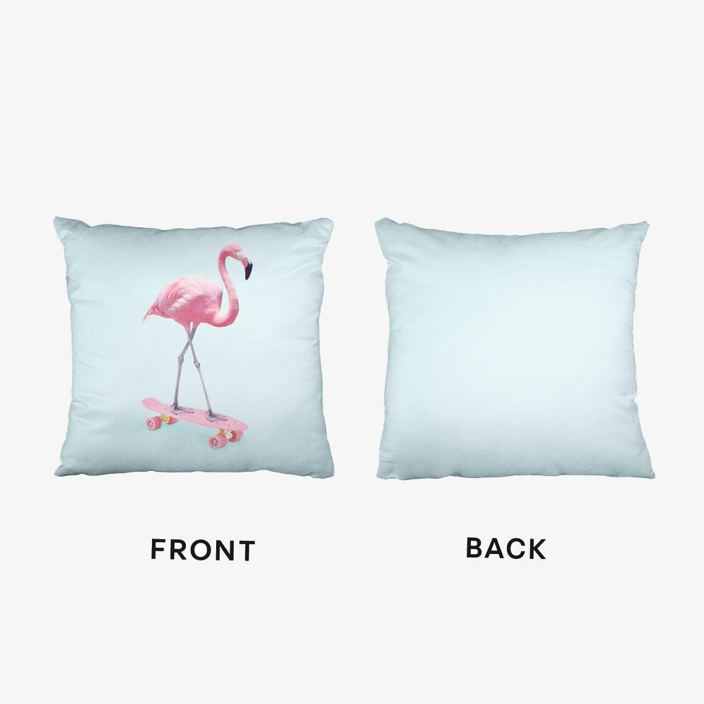 f01d80808e73 Skate Flamingo Cushion