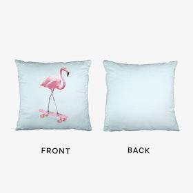 Skate Flamingo Cushion