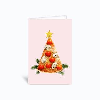 Christmas Pizza Greetings Card