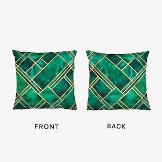 Emerald Blocks Cushion