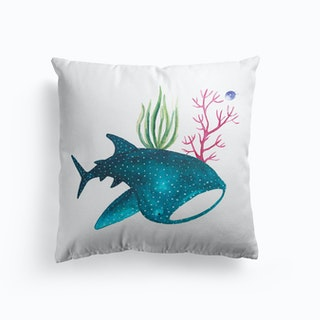 Whale Shark With Corals Cushion