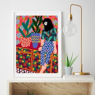Vibrant Interiors in Art Prints