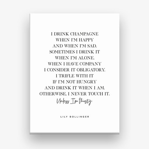 I Drink Champagne Canvas Print